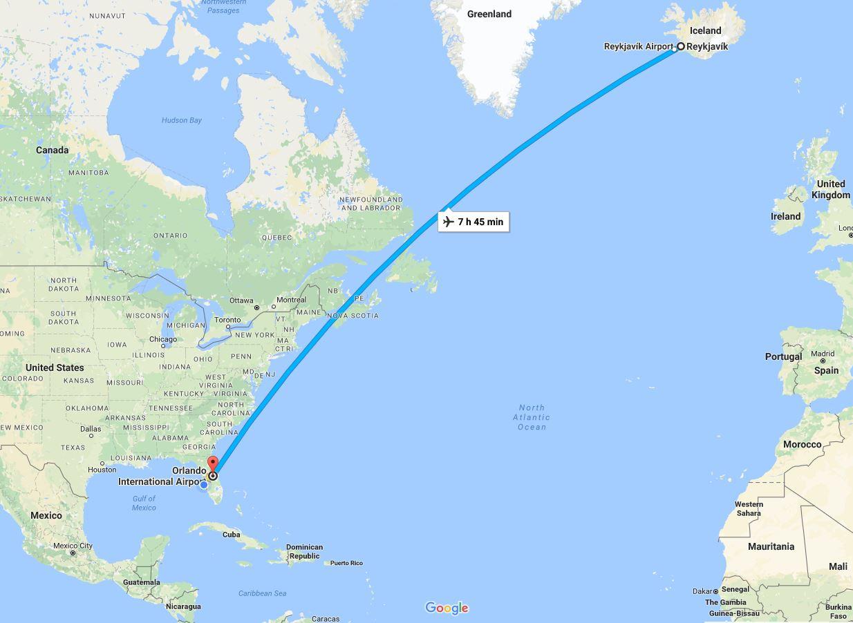 Orlando to Iceland