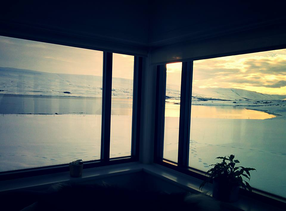 View from Skjaldarvik Guest House