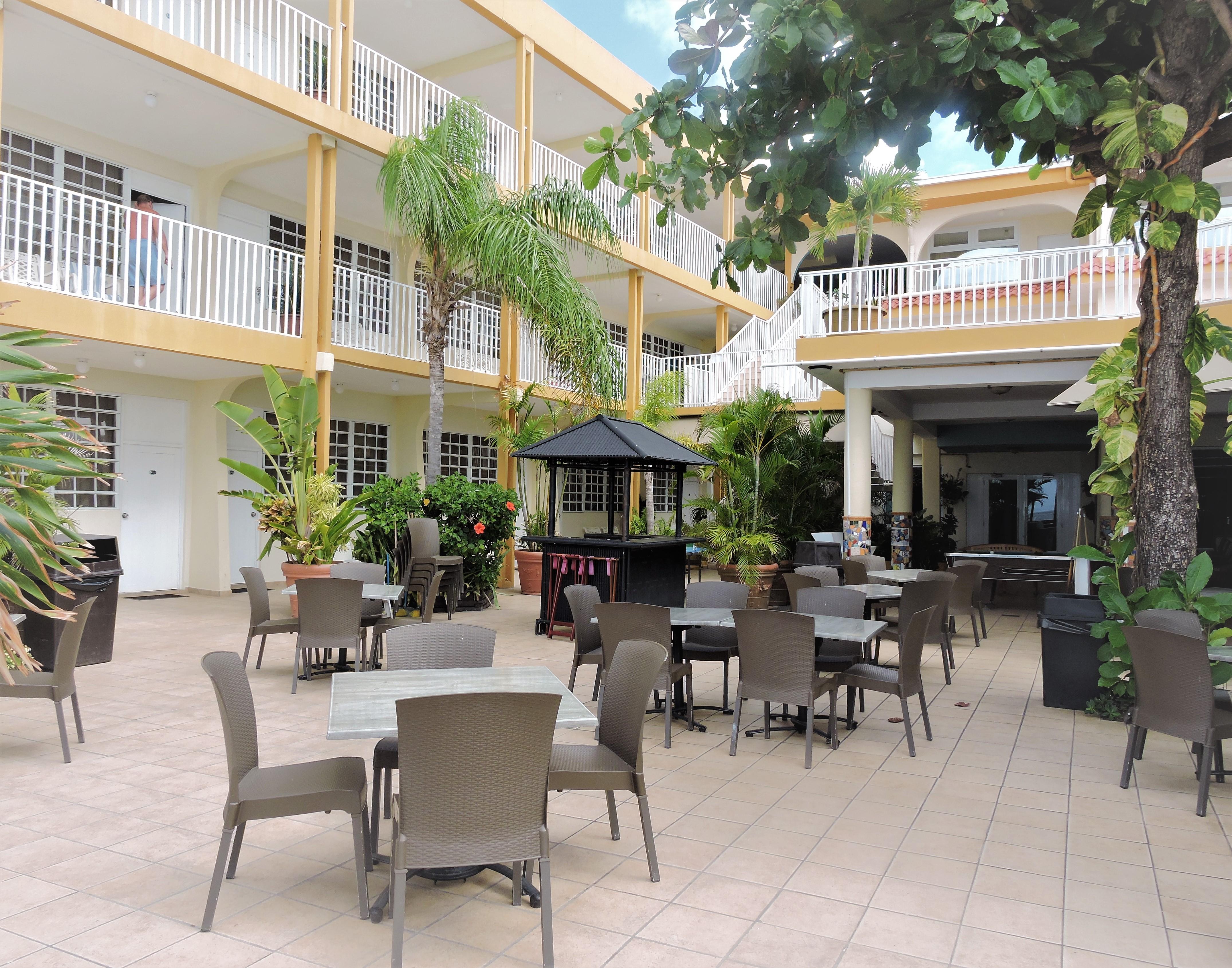 Villa Cofresi Hotel Courtyard Rincon Puerto Rico