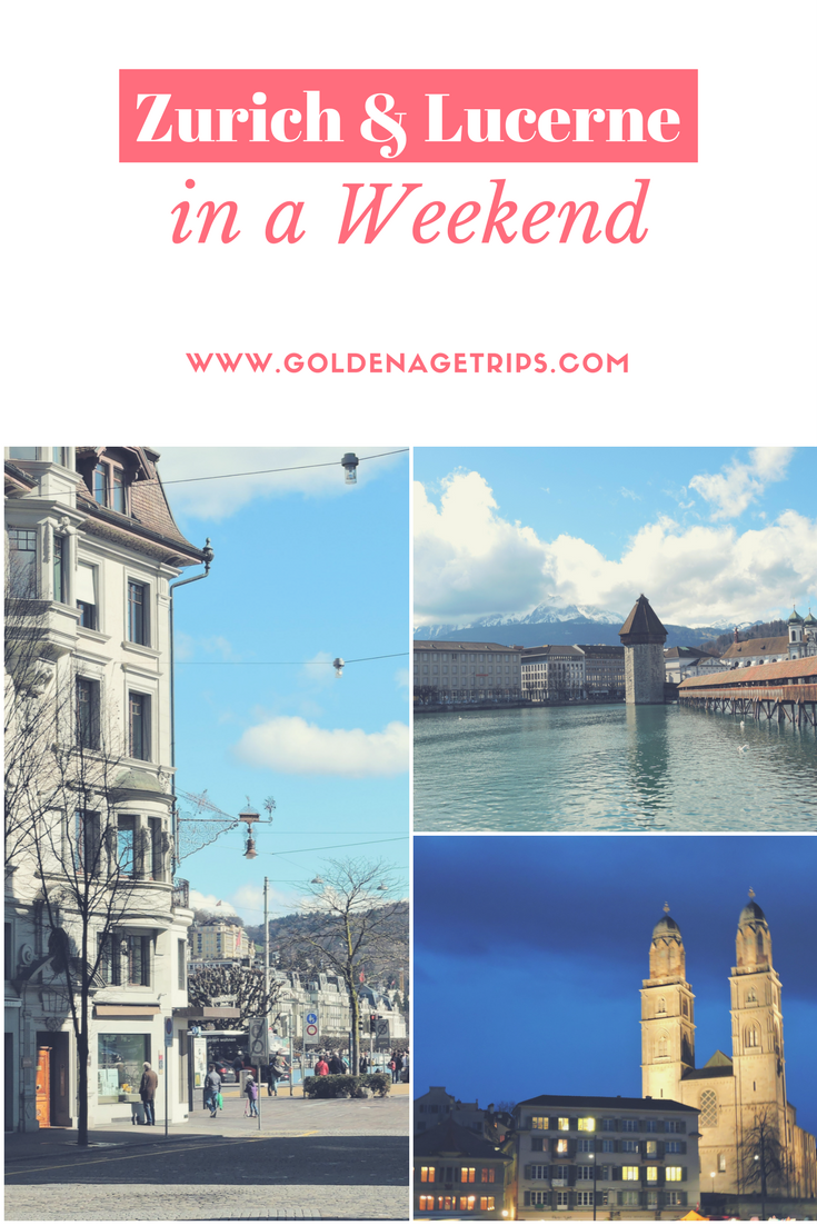 Zurich and Lucerne (Switzerland) in a Weekend. Includes information about how to get from Zurich to Lucerne, the FIFA World Football Museum, Kapellbrucke, Lion Monument and where to find Raclette.