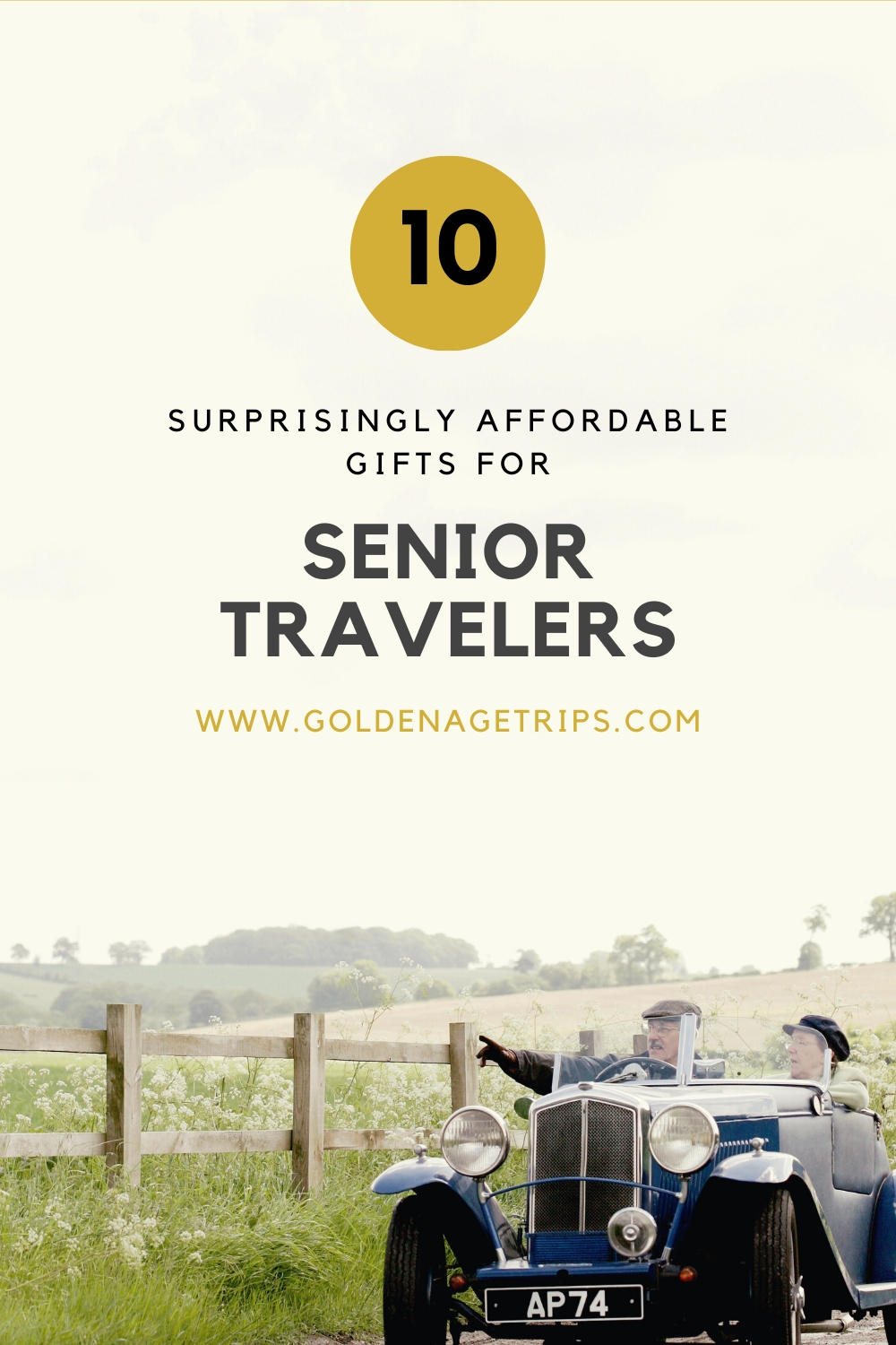 10 Surprisingly Affordable Gifts for Senior Travelers. There is something for every budget and type of traveler. #gifts #seniortravel #seniors #retirementgifts