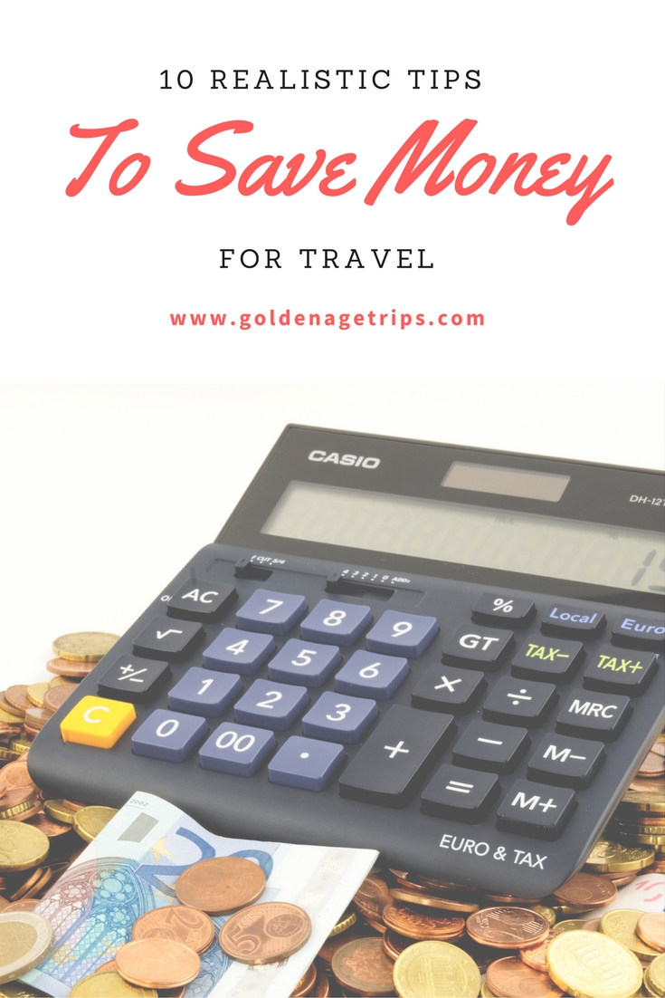 10 Realistic Tips To Save Money For Travel - Stop dreaming and start saving money to travel. From choosing the right travel rewards card, to pre-planning your groceries and getting cashback on them. #money #travel #savingmoney