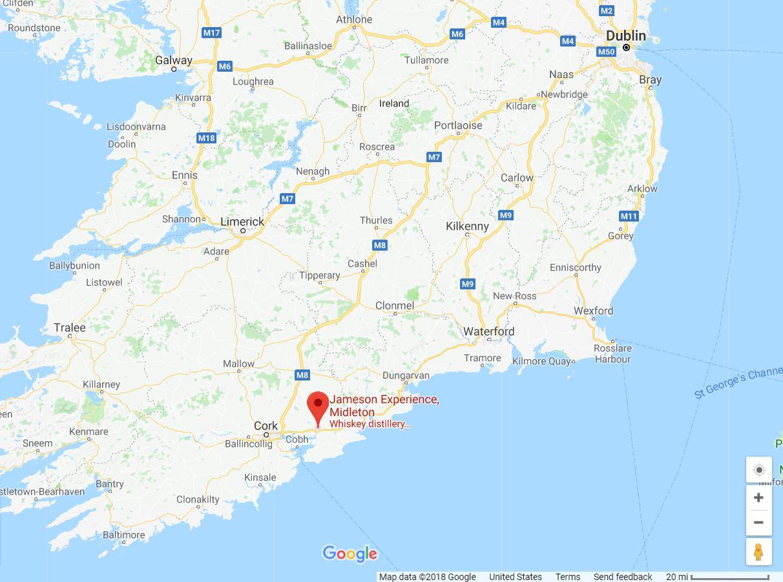 Jameson Experience Midleton Google Maps