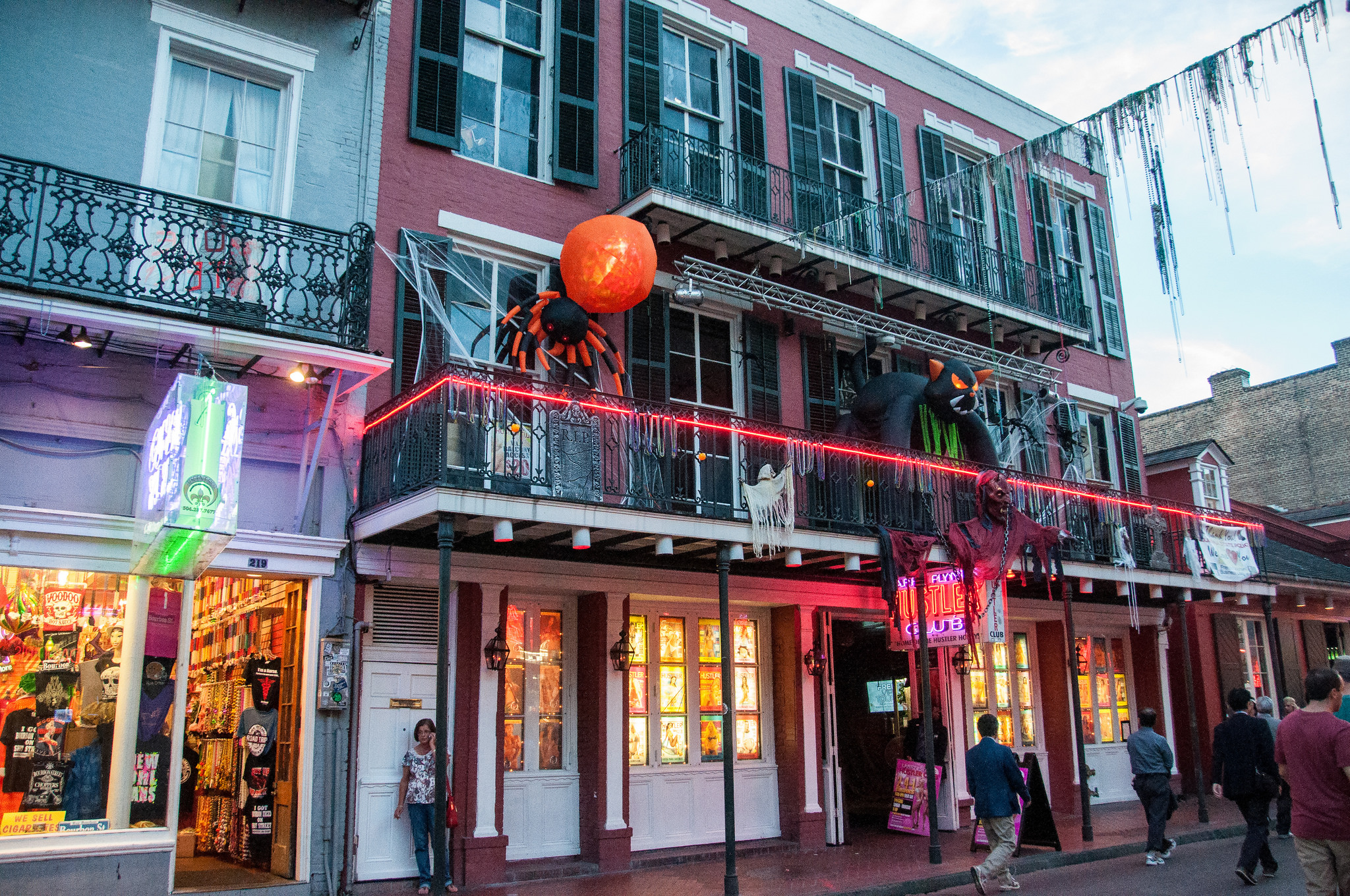 Halloween Decorations in Bourbon Street Kent Kanouse