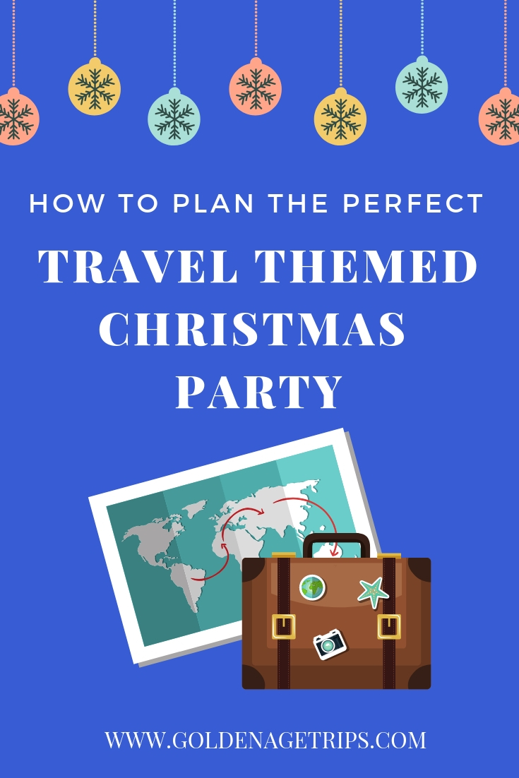 If you're not traveling during Christmas, don't feel glum. Plan for the perfect travel themed Christmas party at work or at home and feed your travel bug. #travel #christmas #traveltheme #christmasparty #party