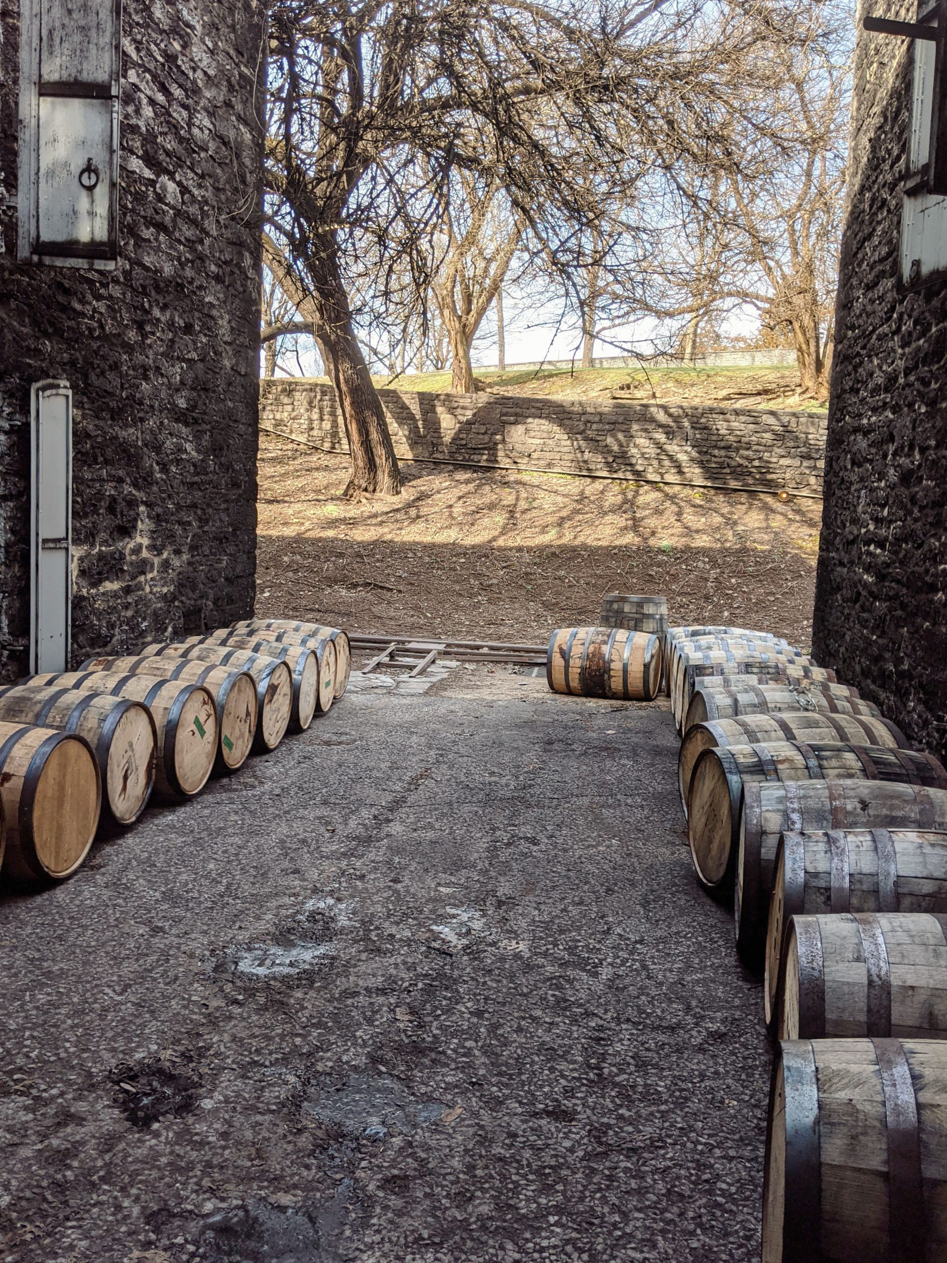 Charred White Oak Barrels at Woodford Reserve part of the Kentucky Bourbon Trail